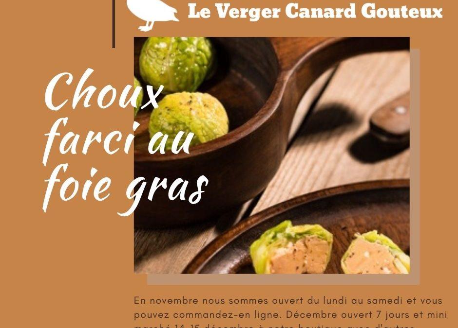 Boule de chou au foie gras